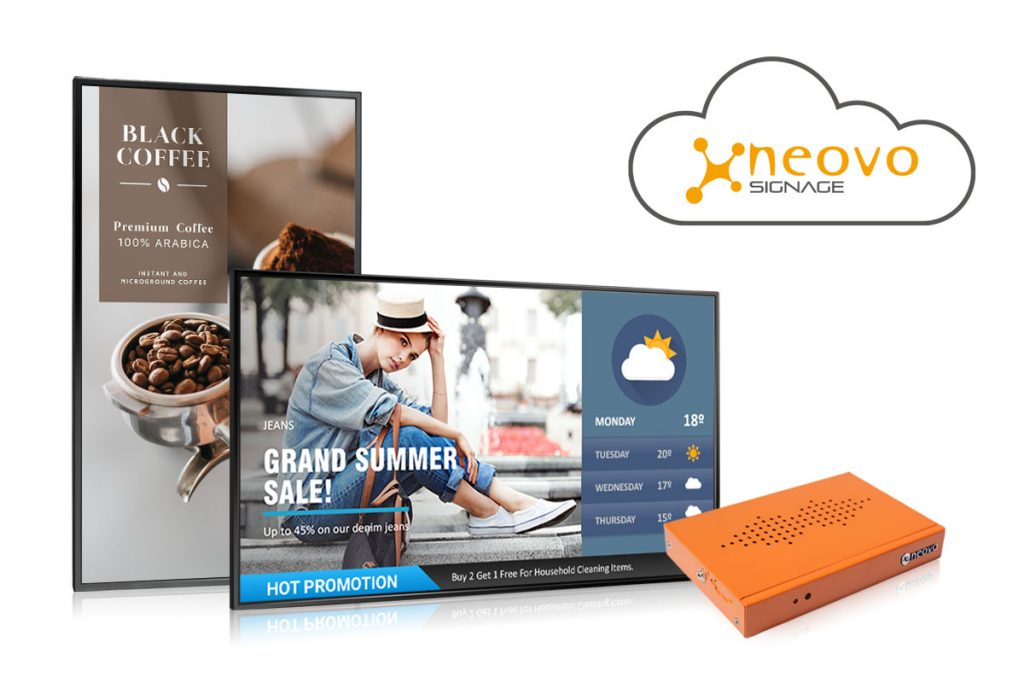 Neovo Signage Custom One-stop cloud-based Digital Signage Solution