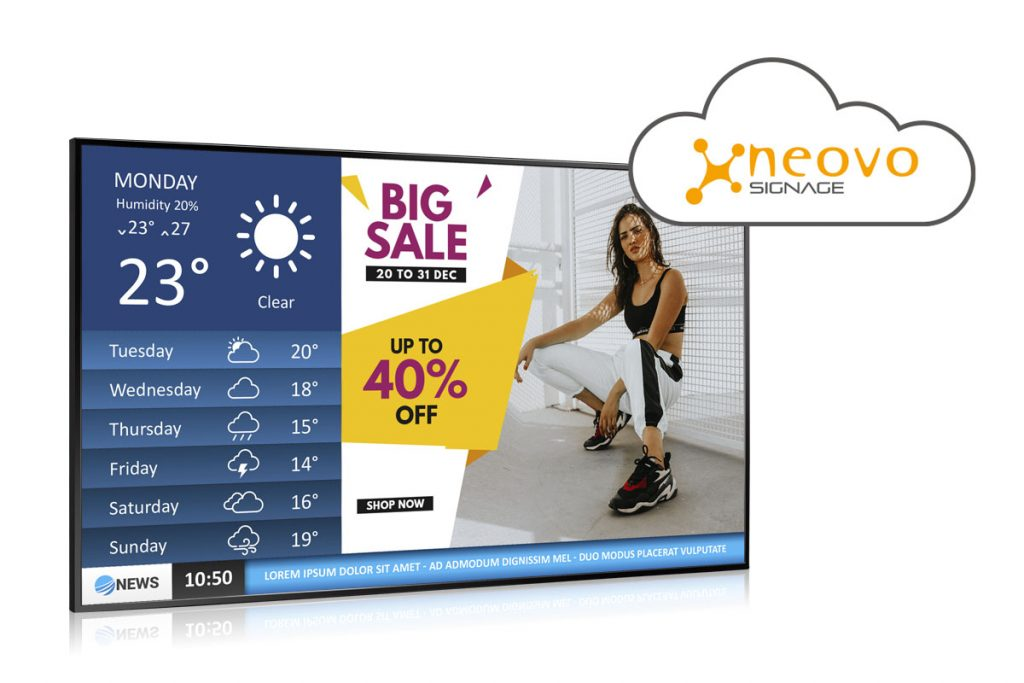 Neovo Signage Premium One-stop Cloud-based Digital Signage Solution