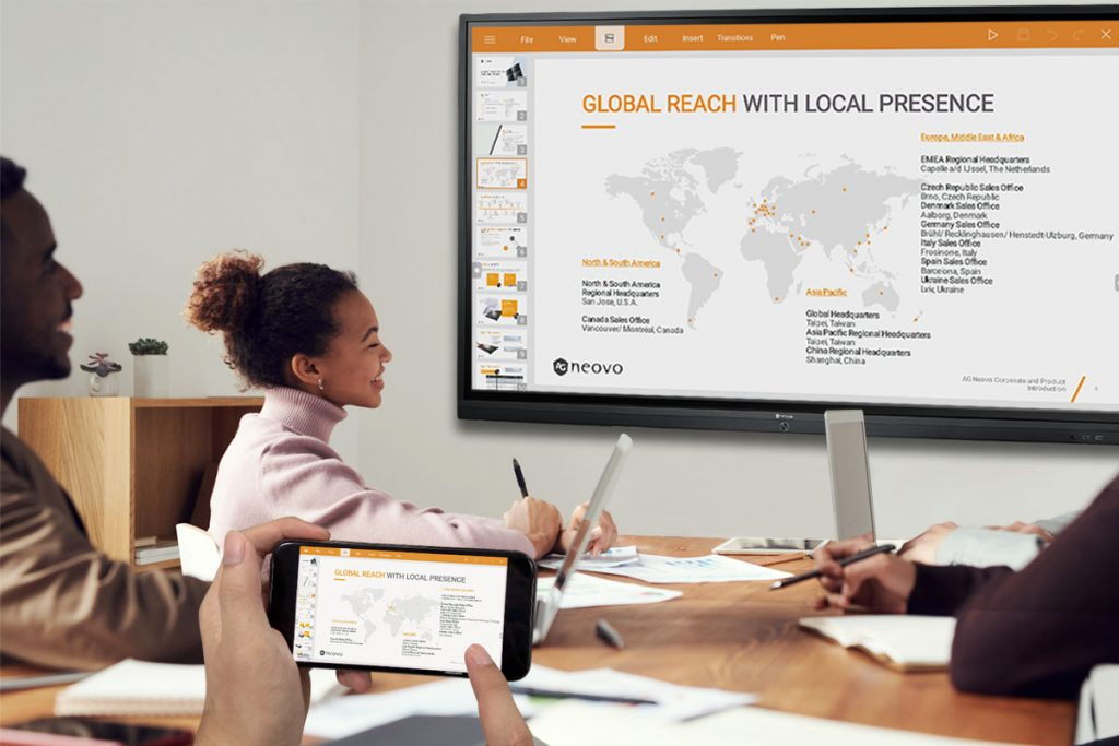 AG Neovo Meetboard interactive display for business collaboration