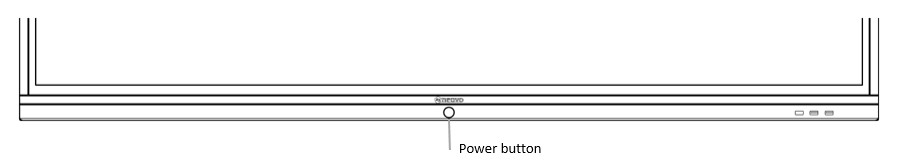the power button on Meetboard