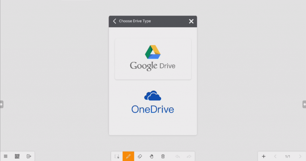 Meetboard storage service: Google Drive & OneDrive
