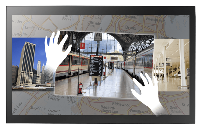 Some commercial display screens have multi-touch functionality