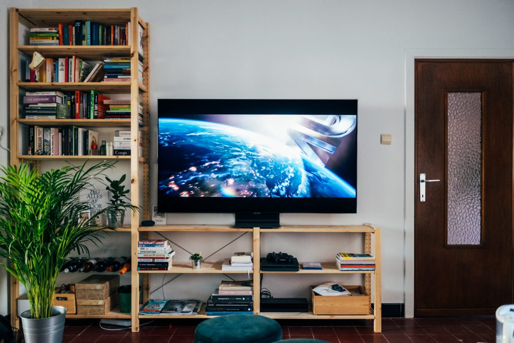 A consumer TV in a living room