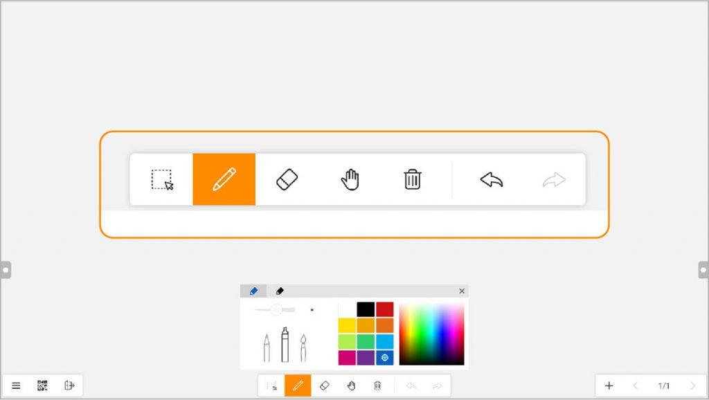 Meetboard whiteboard app simple tool bar