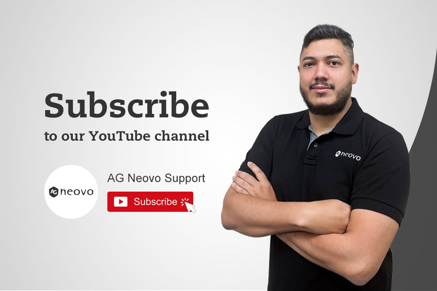 subscribe to AG Neovo Support YouTube channel