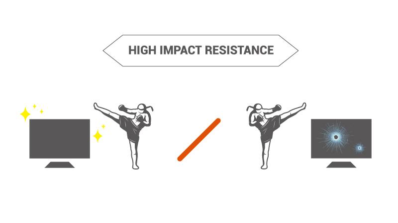 comparison for high impact resistance