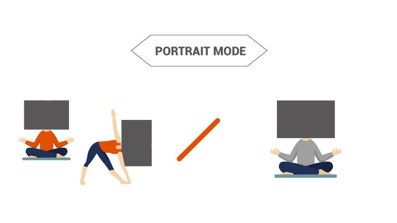 comparison for portrait mode