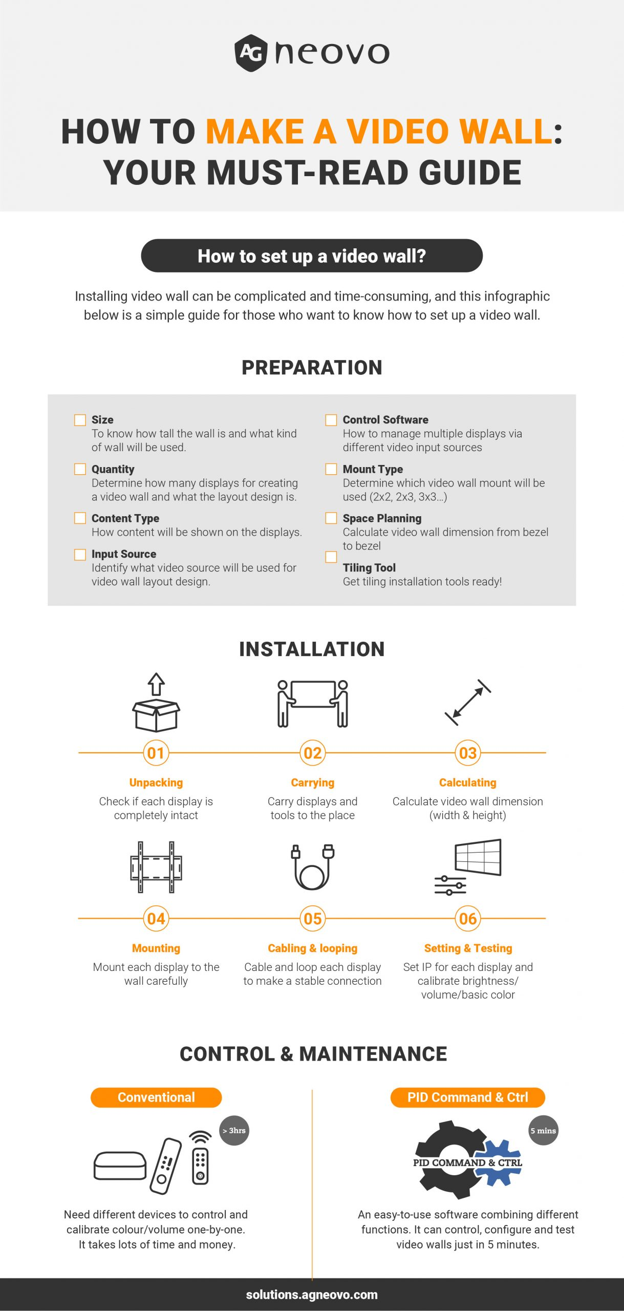 Infographic_How to Make a Video Wall: Your Must-Read Guide
