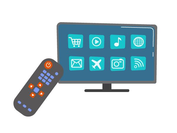 a domestic smart TV display